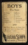 1917 Boston Store #151  Walter Schang  Back Thumbnail