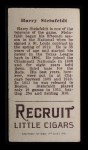 1912 T207  Harry Steinfeldt    Back Thumbnail