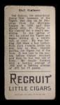1912 T207  Del Gainor    Back Thumbnail