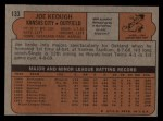1972 Topps #133  Joe Keough  Back Thumbnail