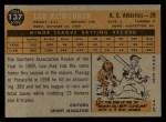 1960 Topps #137   -  Lou Klimchock Rookie Star Back Thumbnail