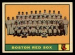 1961 Topps #373   Red Sox Team Front Thumbnail