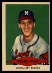 1954 Red Heart  Warren Spahn  Front Thumbnail
