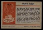1954 Bowman Power for Peace #7   Stratojet Take-off Back Thumbnail