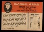 1961 Fleer #5  Earl Averill  Back Thumbnail