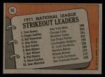1972 Topps #95   -  Fergie Jenkins / Tom Seaver / Bil Stoneman NL Strikeout Leaders   Back Thumbnail