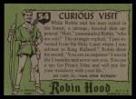 1957 Topps Robin Hood #54   Curious Visit Back Thumbnail