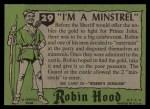 1957 Topps Robin Hood #29   I'm Minstrel Back Thumbnail
