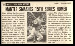 1964 Topps Giants #25  Mickey Mantle   Back Thumbnail