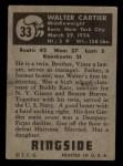 1951 Topps Ringside #33  Walter Cartier  Back Thumbnail