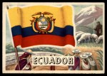 1956 Topps Flags of the World #61   Ecuador Front Thumbnail