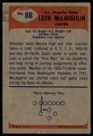 1955 Bowman #88  Leon McLaughlin  Back Thumbnail