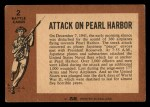 1966 A and BC England Battle #2   Attack On Pearl Harbor Back Thumbnail