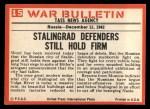 1965 Philadelphia War Bulletin #15   Stop the Nazis Back Thumbnail