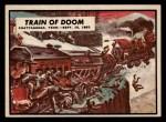 1962 Topps Civil War News #53   Train of Doom Front Thumbnail