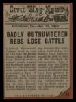 1962 Topps Civil War News #12   Bloody Combat Back Thumbnail