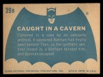 1966 Topps Batman Blue Bat Back #39   Caught in Cavern Back Thumbnail