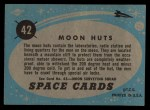 1957 Topps Space Cards #42   Moon Huts  Back Thumbnail