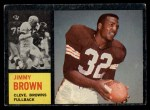 1962 Topps #28  Jim Brown  Front Thumbnail