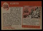 1954 Topps World on Wheels #118   Kurtis Back Thumbnail