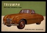 1954 Topps World on Wheels #126   Triumph Front Thumbnail