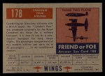 1952 Topps Wings #178   Canadair Four Back Thumbnail