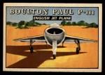 1952 Topps Wings #165   Boulton Paul P-111 Front Thumbnail