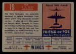 1952 Topps Wings #19   HUP-1 Back Thumbnail