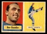 1957 Topps #23  Don Chandler  Front Thumbnail