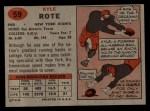 1957 Topps #59  Kyle Rote  Back Thumbnail