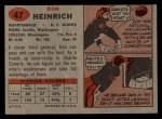 1957 Topps #47  Don Heinrich  Back Thumbnail