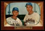 1955 Bowman #139  Bob Shantz / Billy Shantz  Front Thumbnail