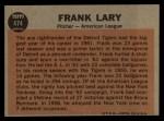 1962 Topps #472   -  Rocky Colavito All-Star Back Thumbnail