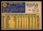 1970 Topps #438  Pat Jarvis  Back Thumbnail