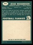 1960 Topps #91  Jesse Richardson  Back Thumbnail