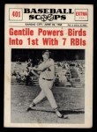 1961 Nu-Card Scoops #401   -  Jim Gentile Powers Birds into 1st With 7 RBIs Front Thumbnail