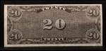 1962 Topps Civil War News Currency   $20 Serial #131960 Back Thumbnail