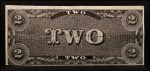 1962 Topps Civil War News Currency   $2 Serial #94505 Back Thumbnail