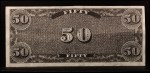1962 Topps Civil War News Currency   $50 Serial #31351 Back Thumbnail