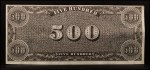 1962 Topps Civil War News Currency   $500  Back Thumbnail