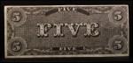 1962 Topps Civil War News Currency   $5 Serial #4763 Back Thumbnail
