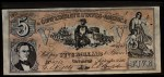 1962 Topps Civil War News Currency   $5 Serial #4763 Front Thumbnail