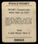 1936 Goudey  Dolph Camilli  Back Thumbnail