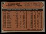 1972 Topps #22  Rob Gardner  Back Thumbnail