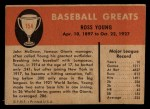 1961 Fleer #154  Ross Youngs ( Young )  Back Thumbnail