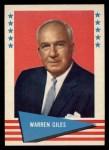 1961 Fleer #33  Warren Giles  Front Thumbnail