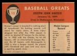 1961 Fleer #113  Joe Hauser  Back Thumbnail