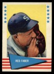 1961 Fleer #24  Red Faber  Front Thumbnail