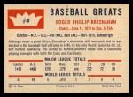 1960 Fleer #8  Roger Bresnahan  Back Thumbnail