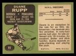 1970 Topps #89  Duane Rupp  Back Thumbnail